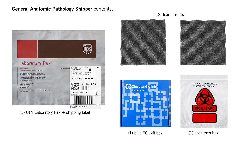 general ap shipper contents   Cleveland Clinic Laboratories