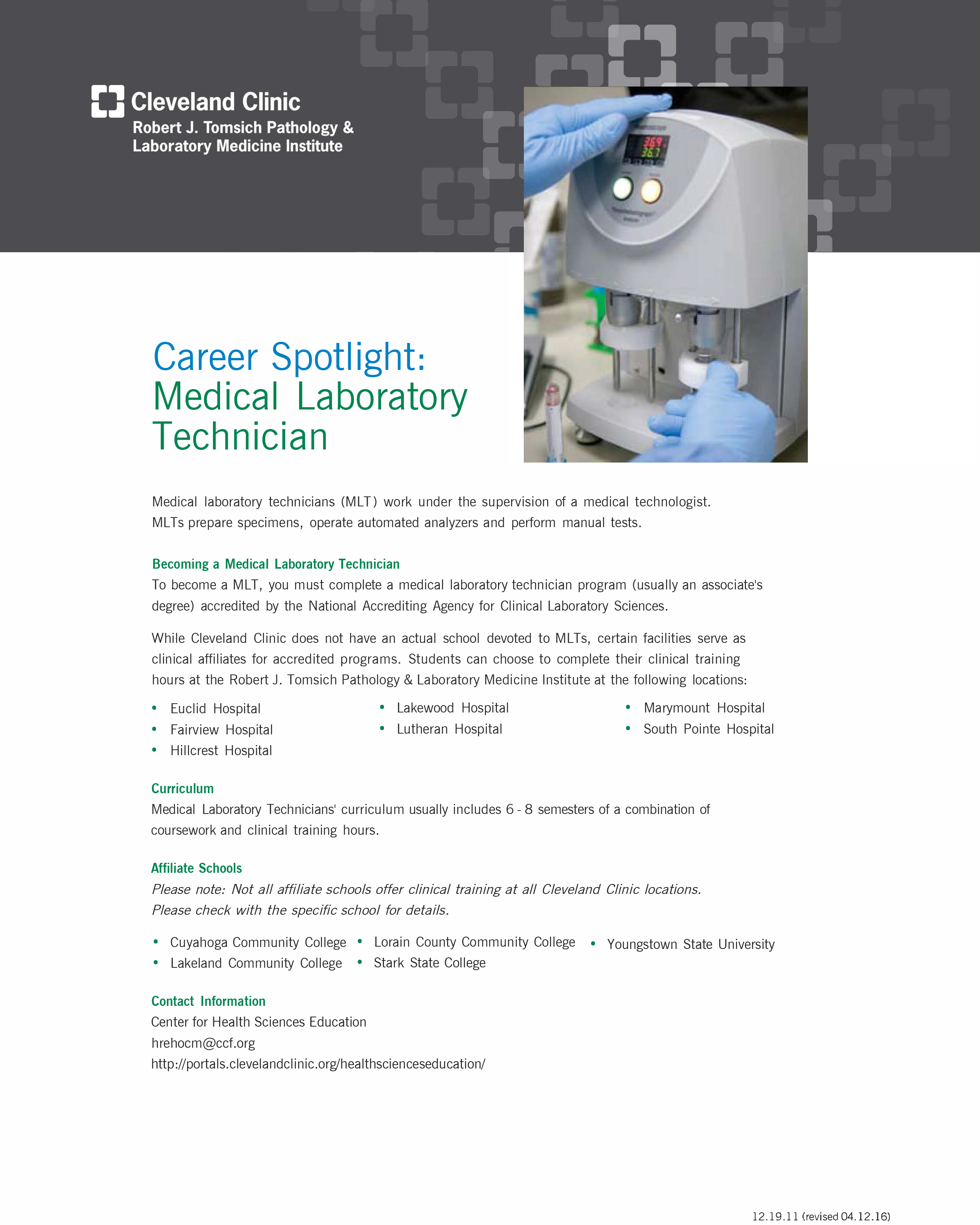 Careers Cleveland Clinic Laboratories